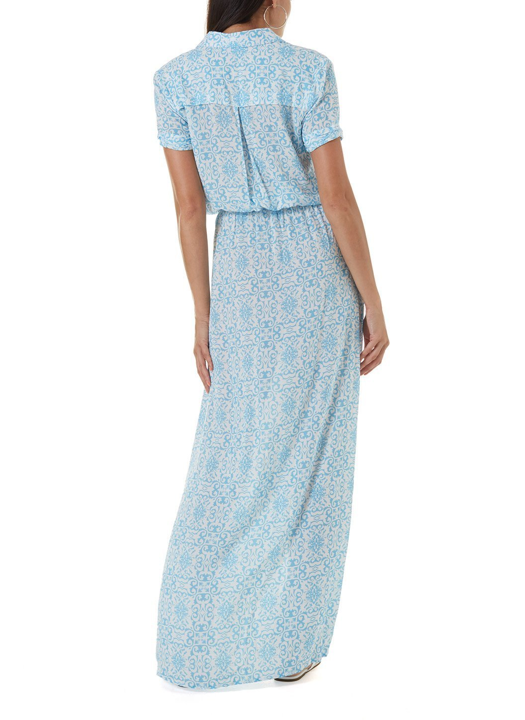 naomi amalfi celeste long shirt dress