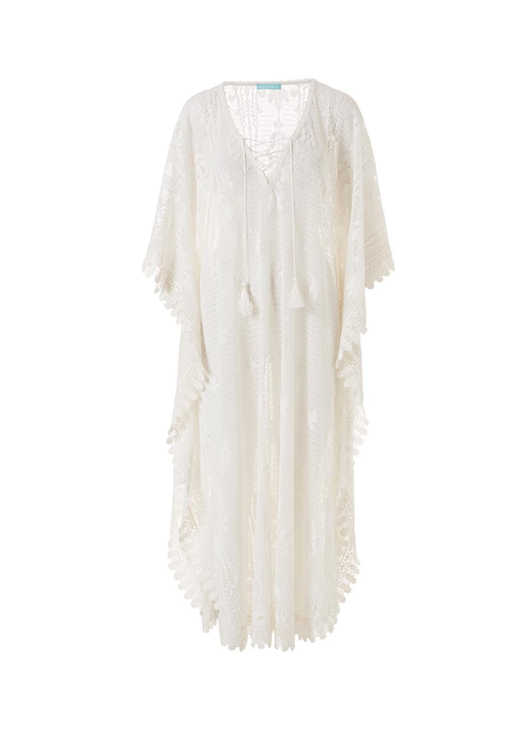 Nicki White Long Kaftan