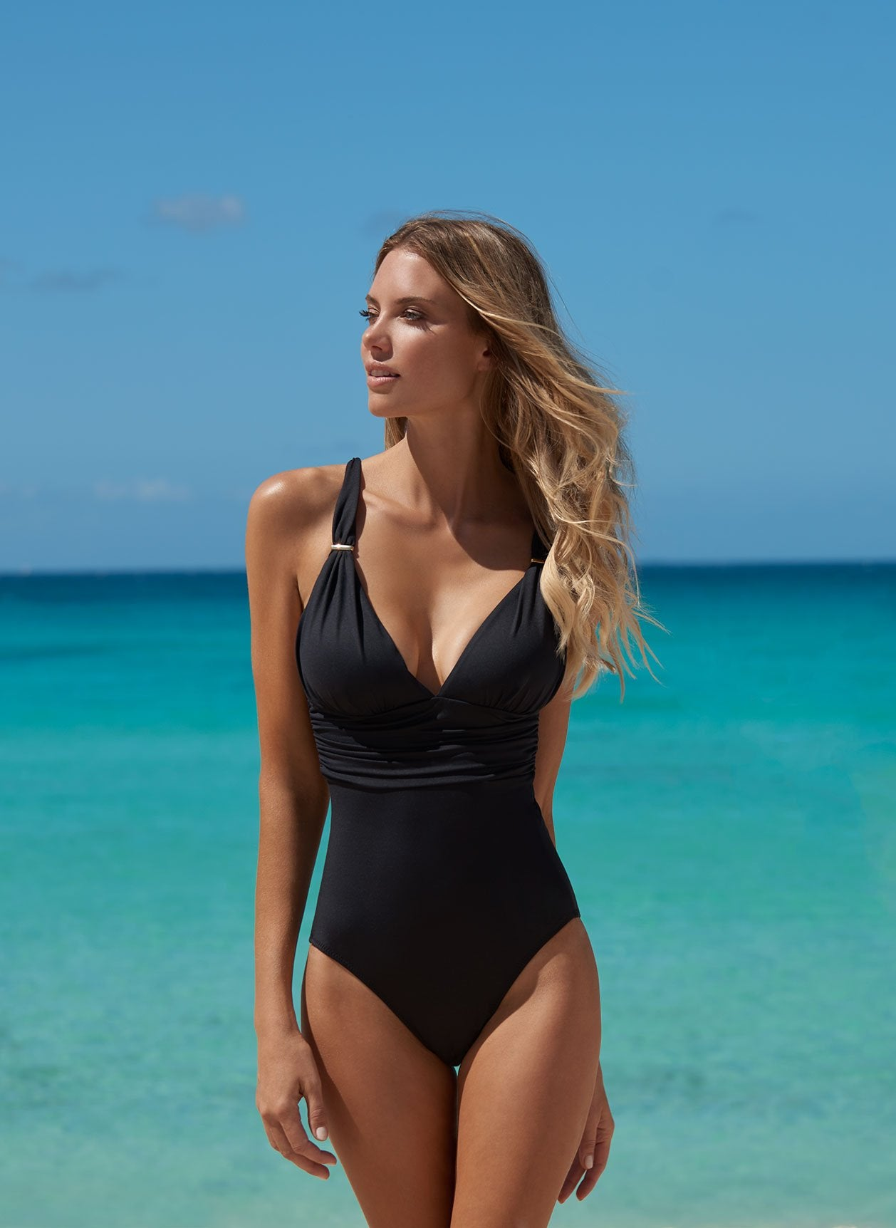 Panarea Black Swimsuit Lifestyle
