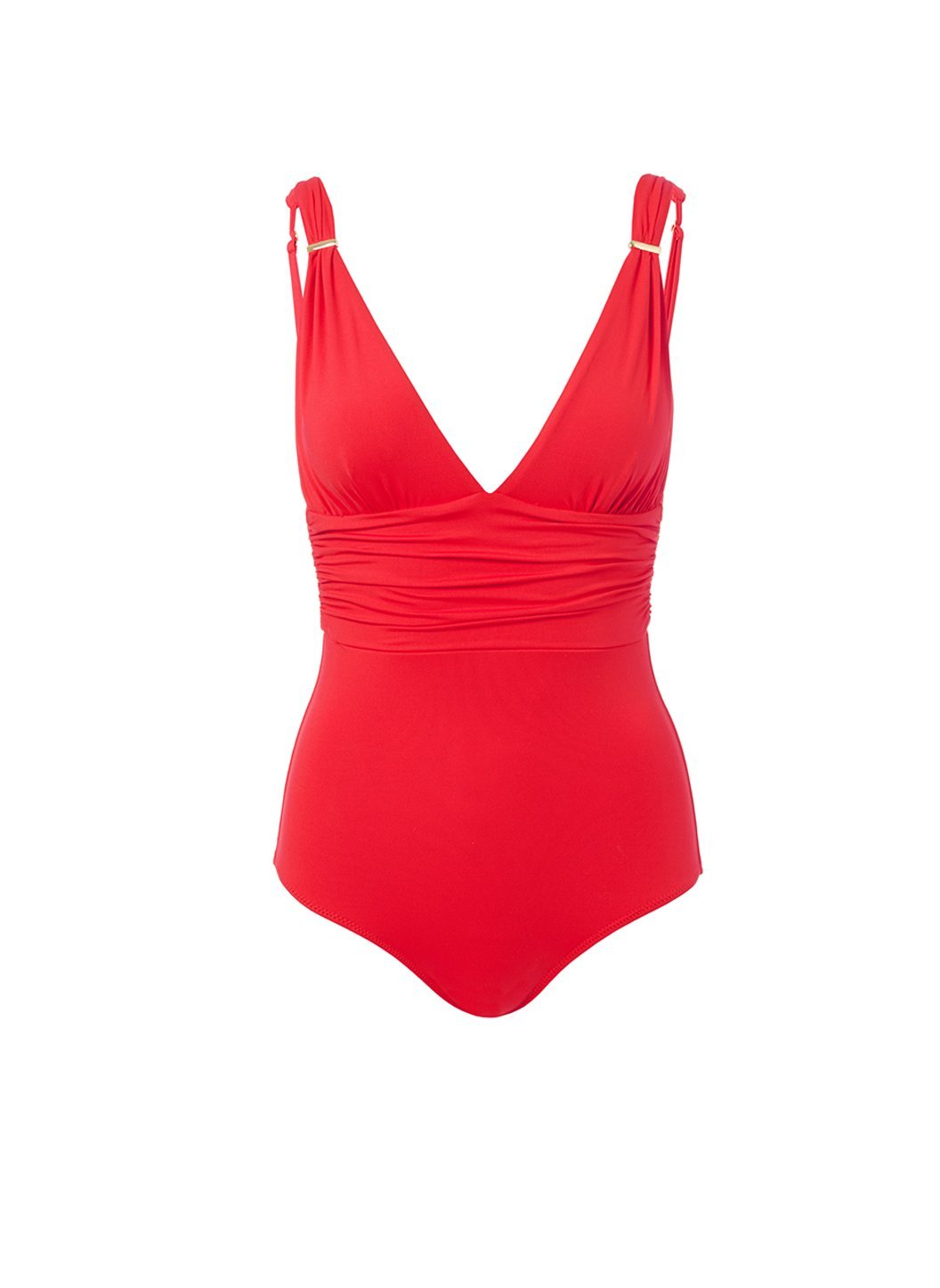 panarea red classic overtheshoulder ruched onepiece swimsuit 2019