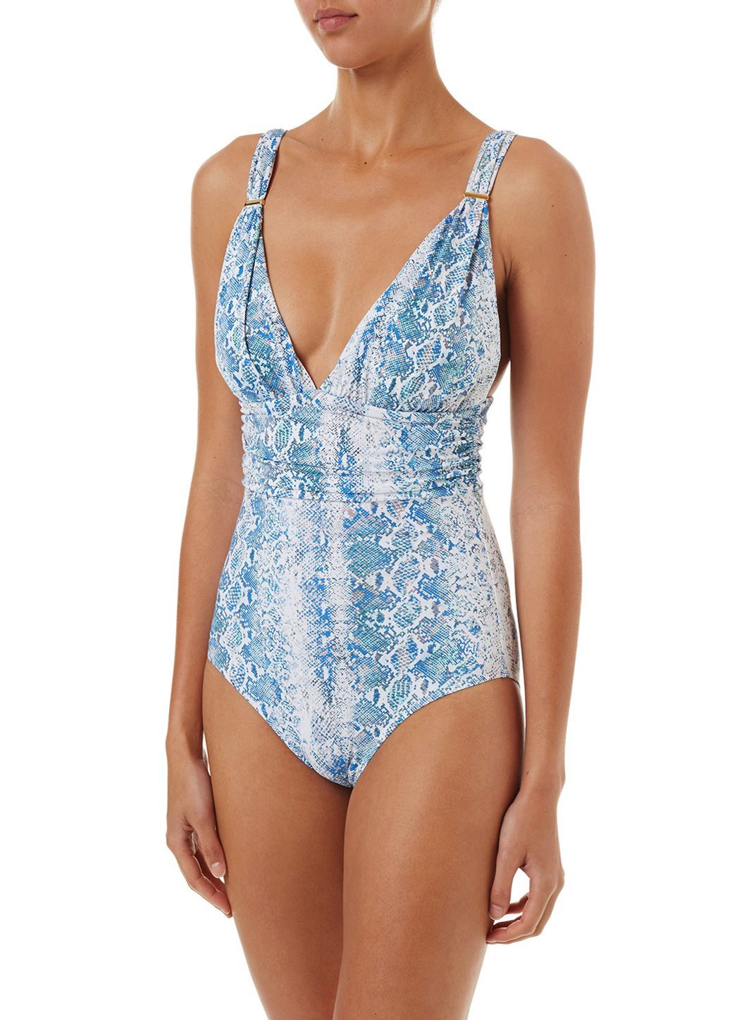 panarea serpente classic overtheshoulder ruched onepiece swimsuit 2019 F