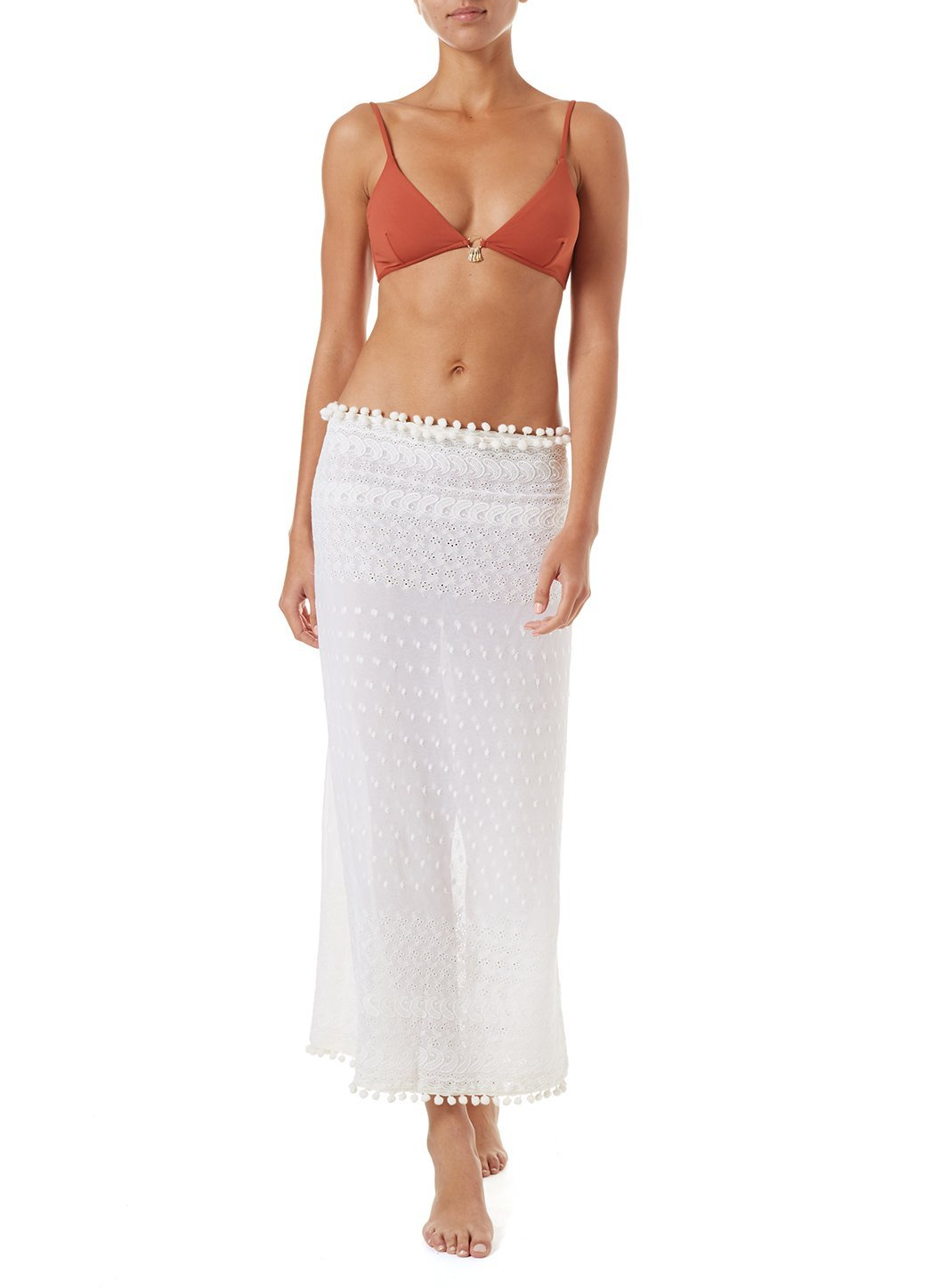 Pareo Cream Embroidered Multi Way Cover Up
