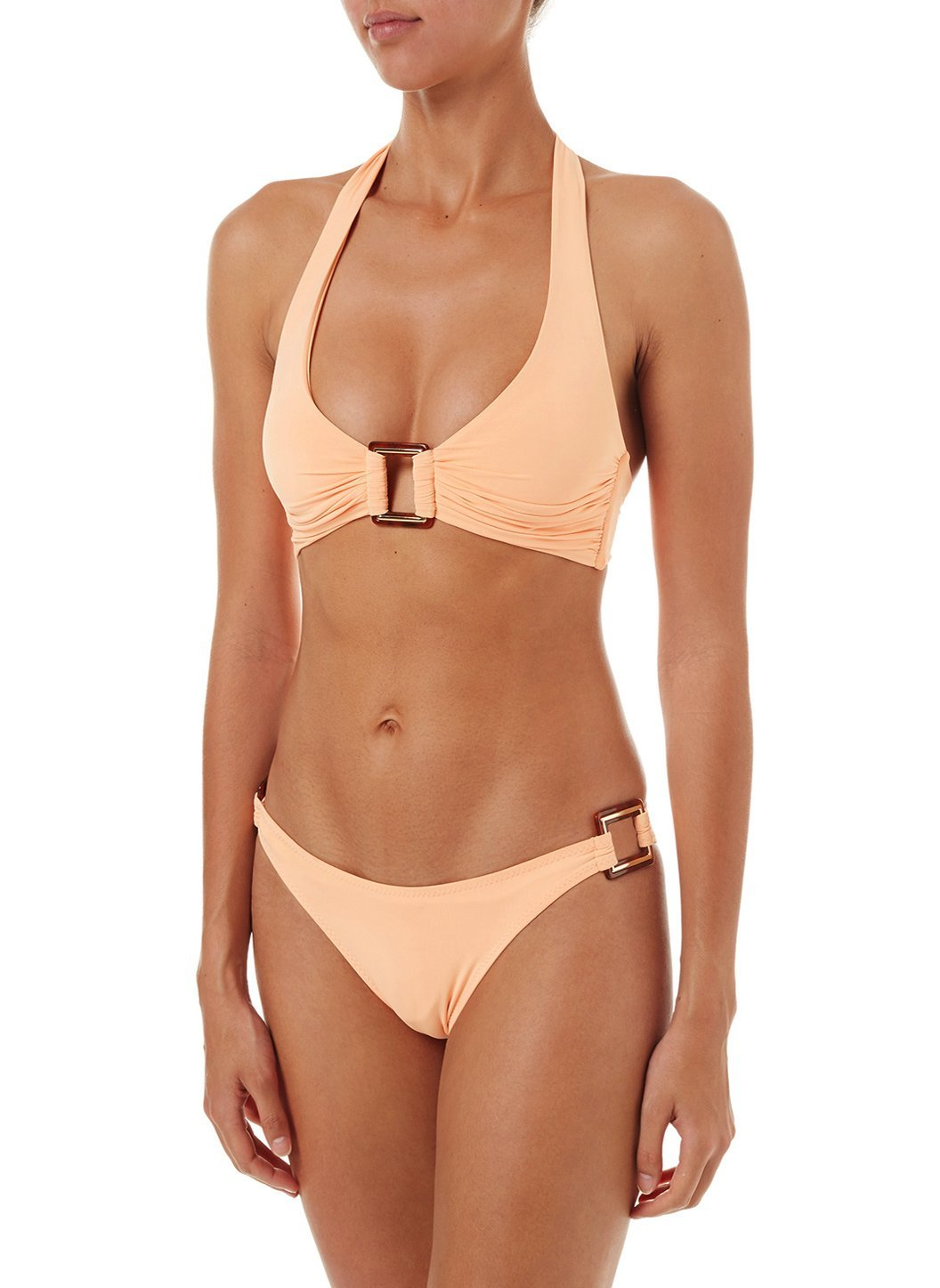 paris mango halterneck rectangle trim bikini 2019 F