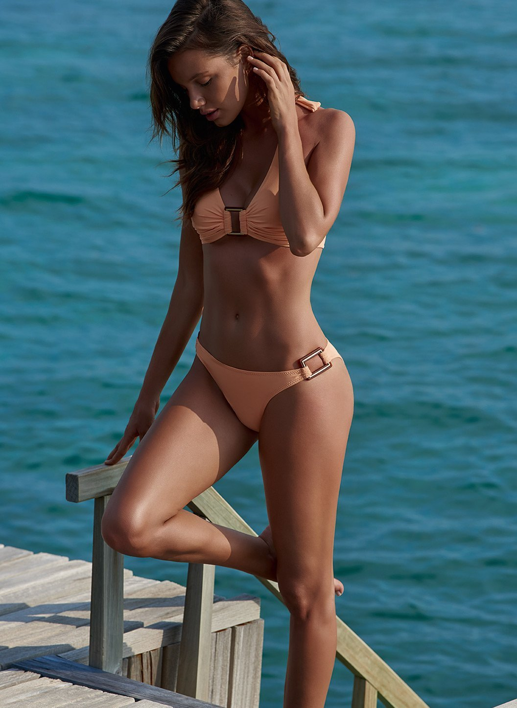 paris mango halterneck rectangle trim bikini lifestyle 2019_2