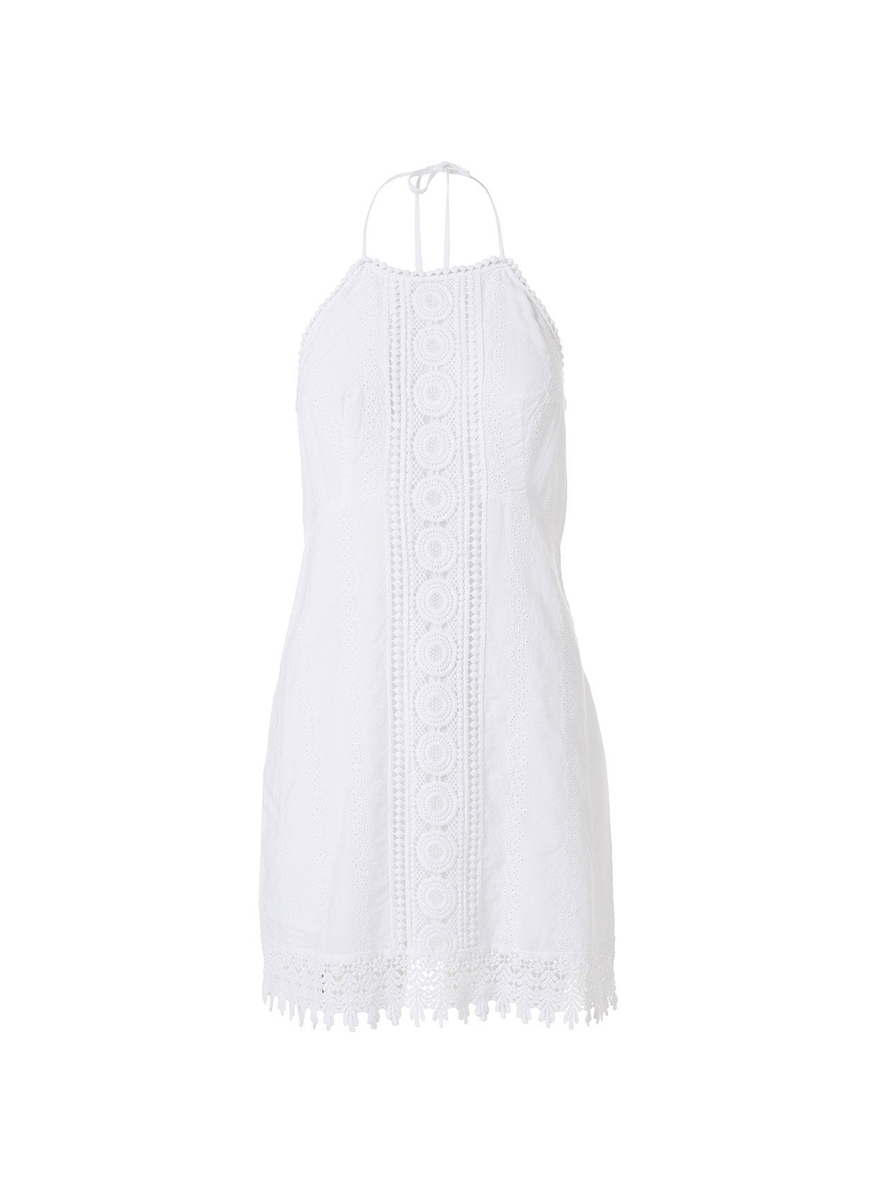 poppy white midi dress