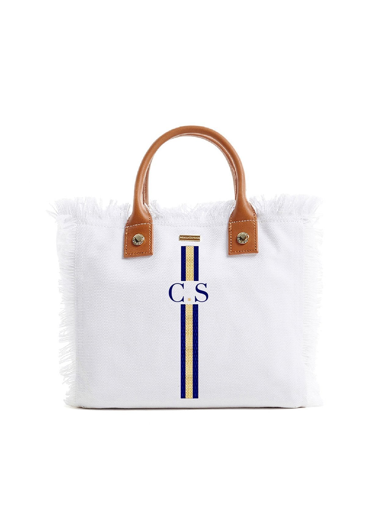 Porto Cervo White Navy/Gold