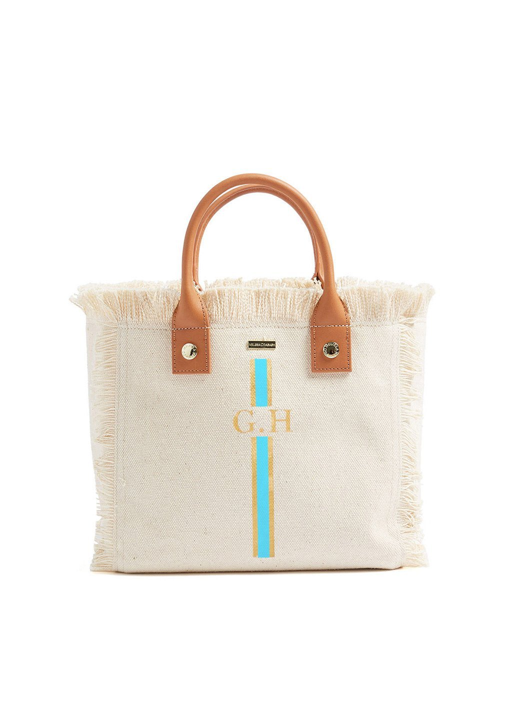 Personalized Porto Cervo Mini Beach Tote Beige Sky