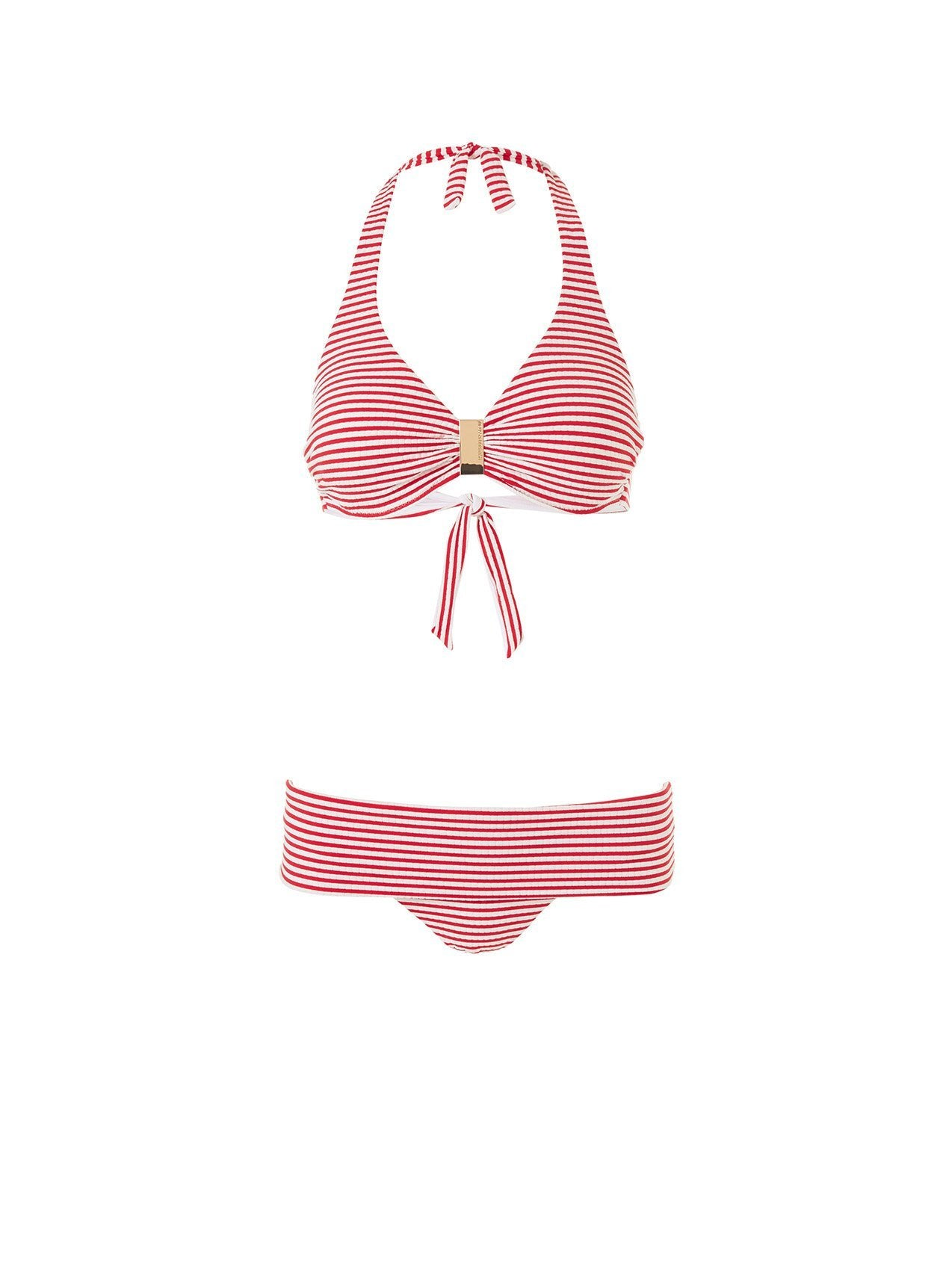 provence bikini nautical red