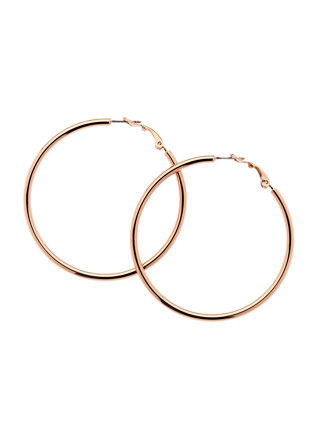 Rose Gold Large Hoop Earrings