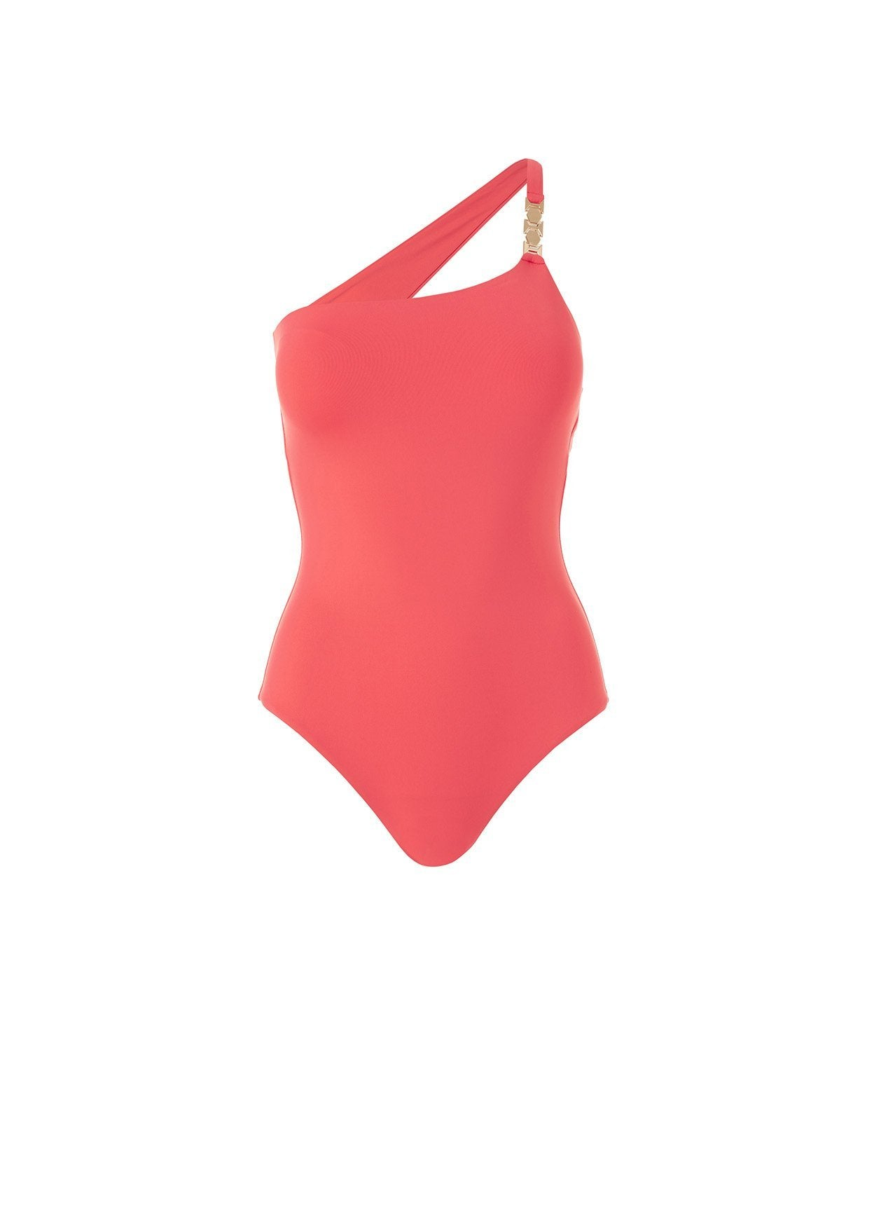 seychelles tangerine one shoulder swimsuit