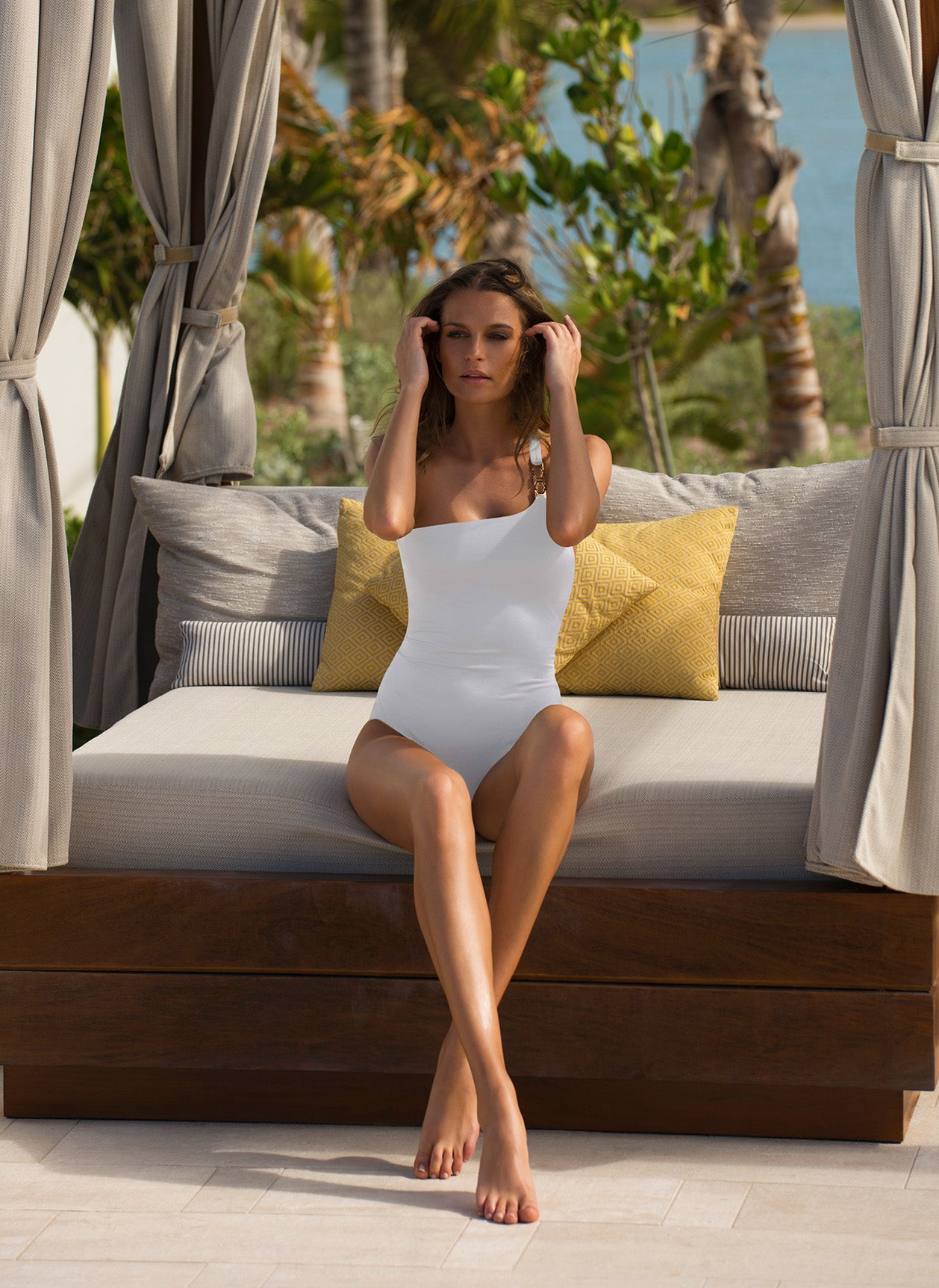 Seychelles White Swimsuit