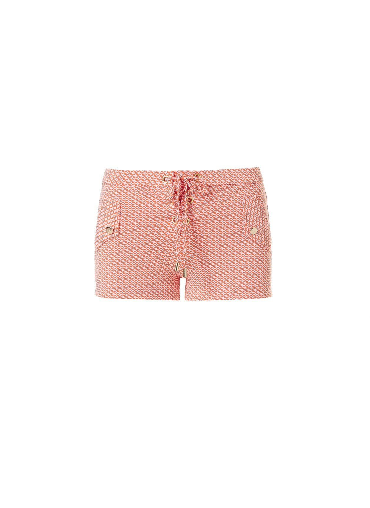 sophia mosaic orange shorts