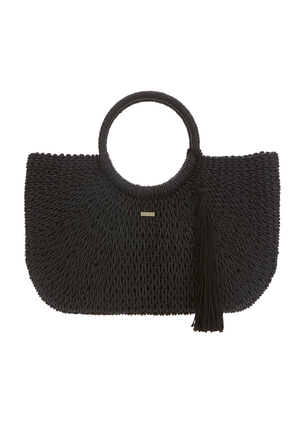 sorrento woven basket bag black 2019