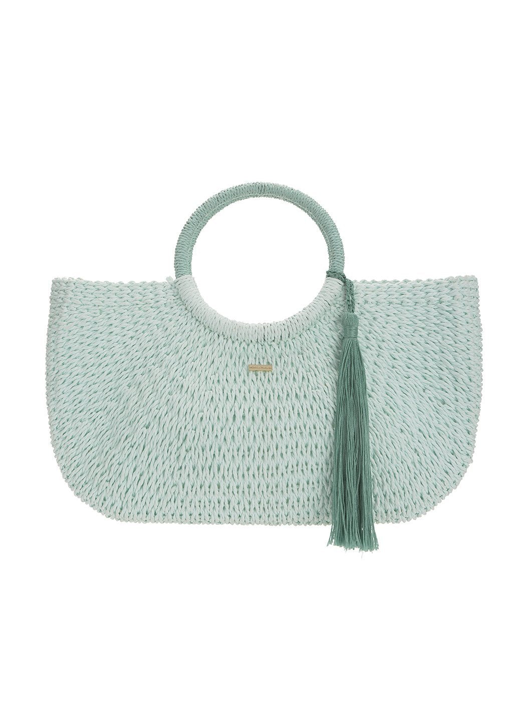sorrento woven basket bag mint 2019