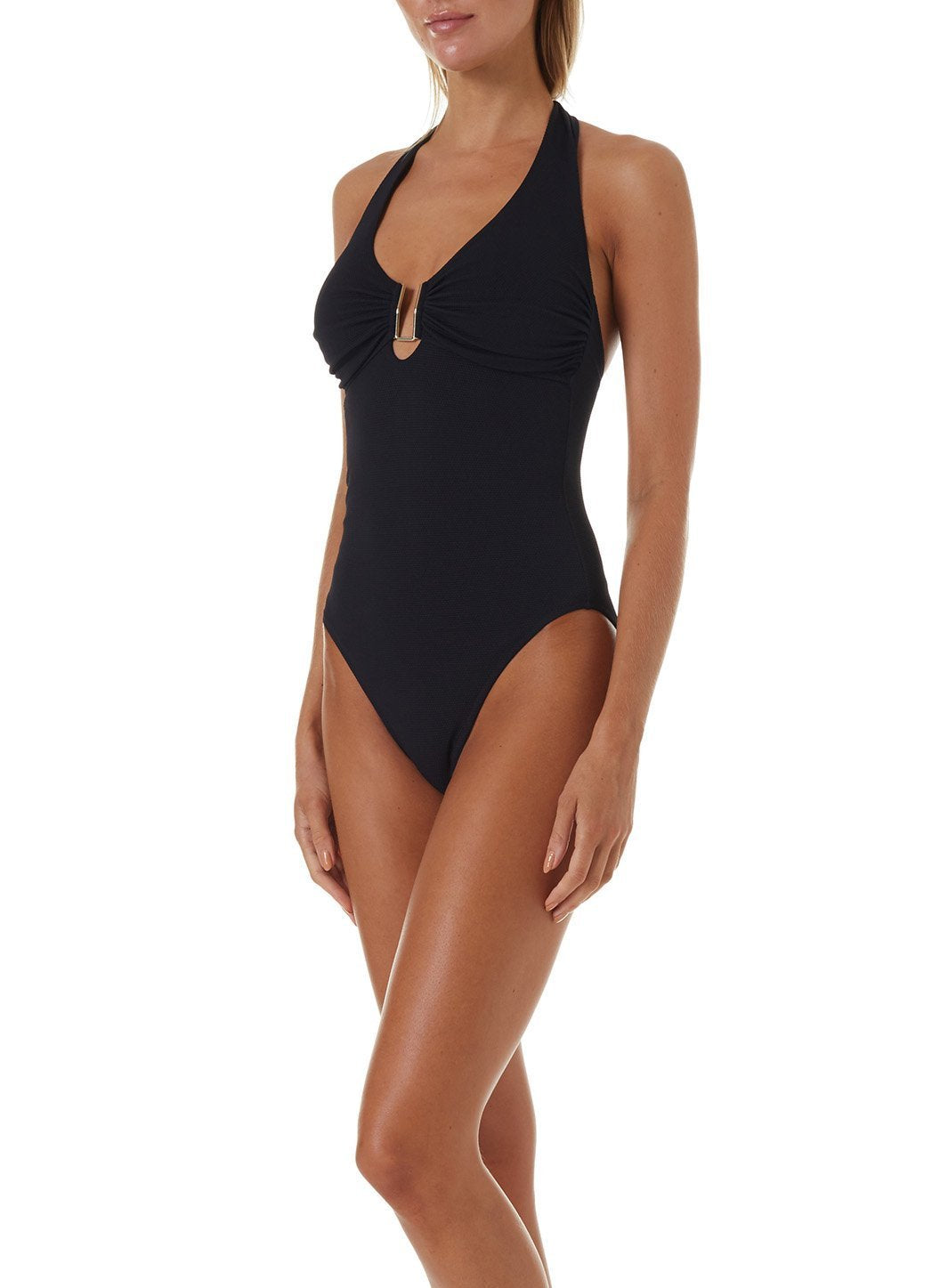 tampa black pique swimsuit