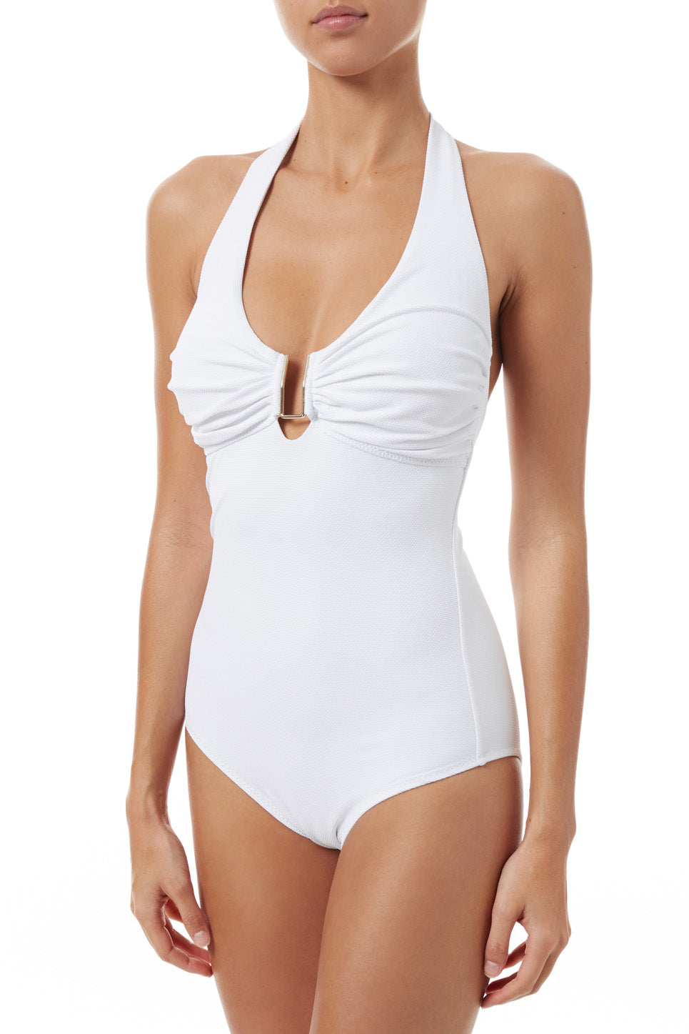 Tampa White Pique Swimsuit