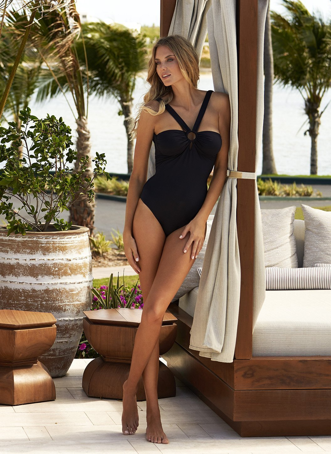 valencia black swimsuit