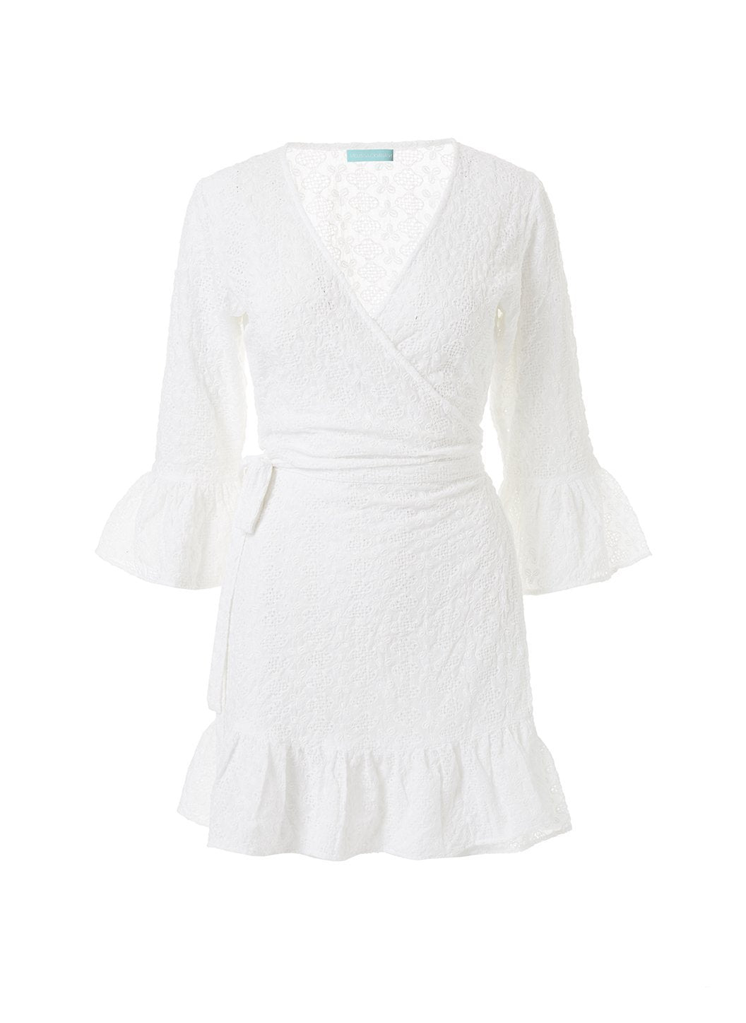 vogue white short belted wrap dress 2019