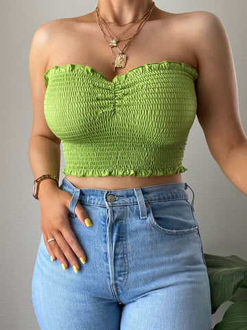 Samara Tube Top - Lime Green