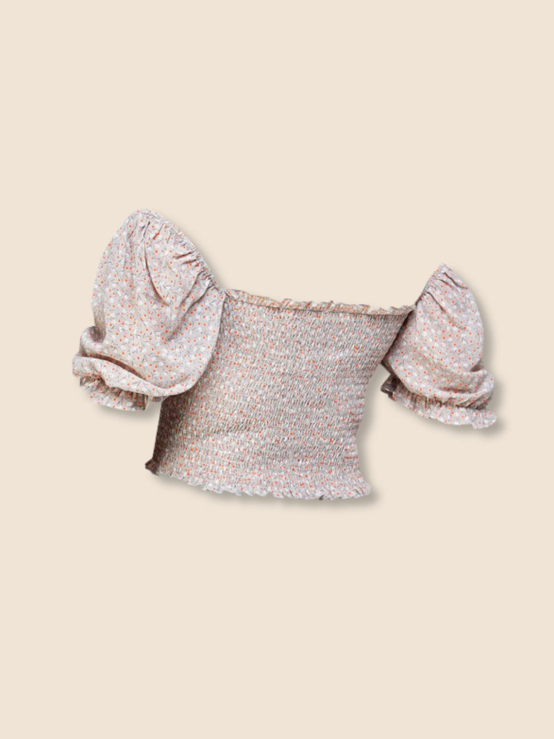 Olivia Top - Beige/Orange