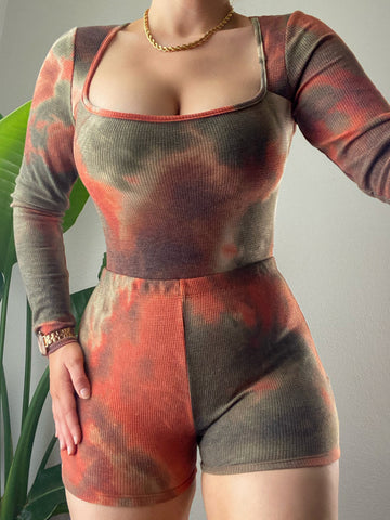 Kamryn Set - Olive/Rust
