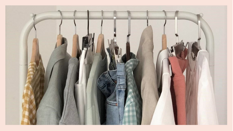 Image of clothing on a rack