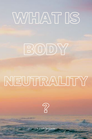 "Pinnable image of an ocean with text reading, ""what is body neutrality?"""