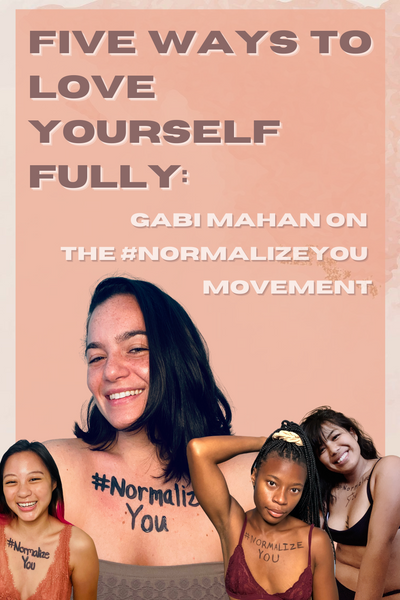 Pinnable image of Gabi Mahan and other individuals from the #NormalizeYou movement