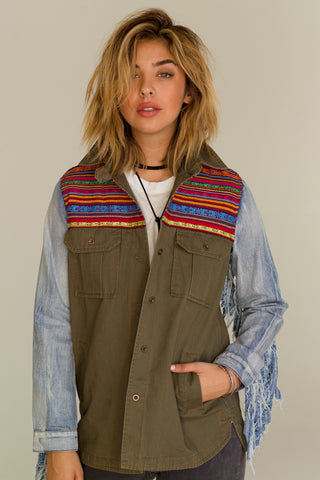 Chelsea's Denim Fringe Jacket