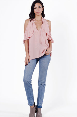 Chelsea's Cold Shoulder Top