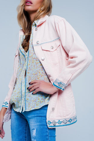 Chelsea's Pink Denim Jacket