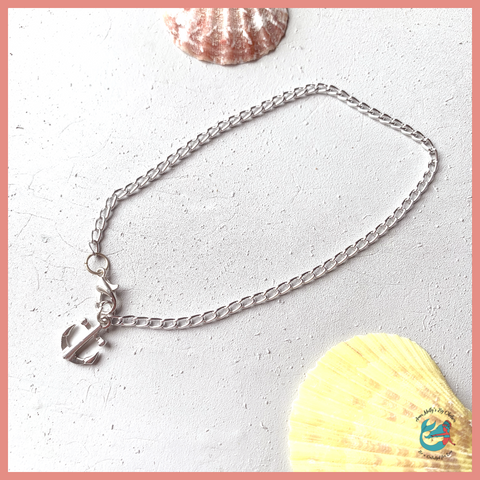Silver Beach Anchor Anklet