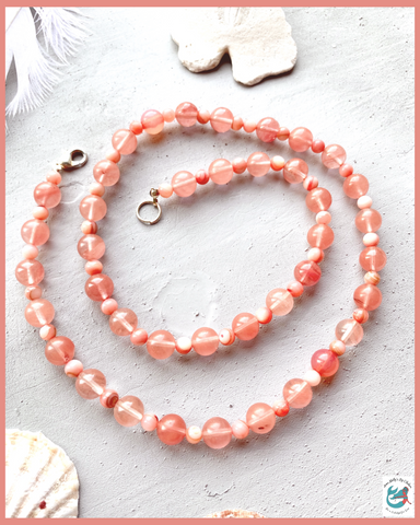 Sweetwater Mermaid's Coral Layering Necklace