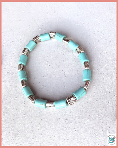 Lost Springs Stretchy Turquoise Bracelet