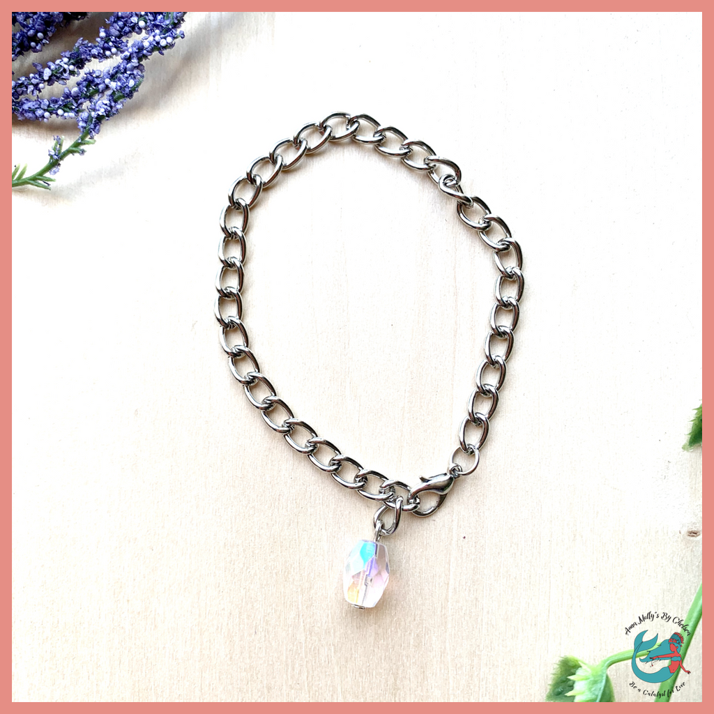 Princess Beach Chain Link Bracelet | Crystal Clear