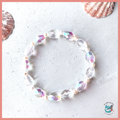 Princess Beach Unicorn Sparkles Stacker Bracelet
