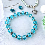 Crystal Beach Sparkle Bracelet | Blue