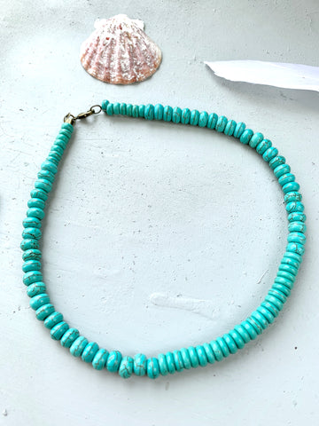 Wind River Faux Turquoise Beaded Choker