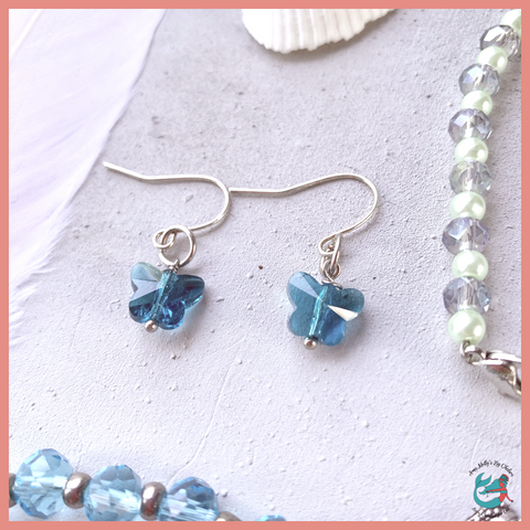 Crystal Beach Butterfly Earrings