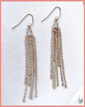 Lost Springs Chain Tassel Earrings