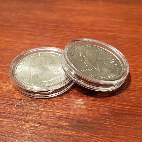 1828 to present ~30 Direct Fit 24 mm Coin Capsule For US 25 Cent Quarters