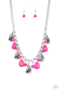 Paparazzi Necklace-  Terra Tranquility - Pink