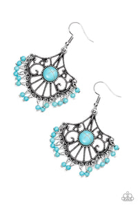 PAPARAZZI EARRINGS-Stone Lagoon - Blue
