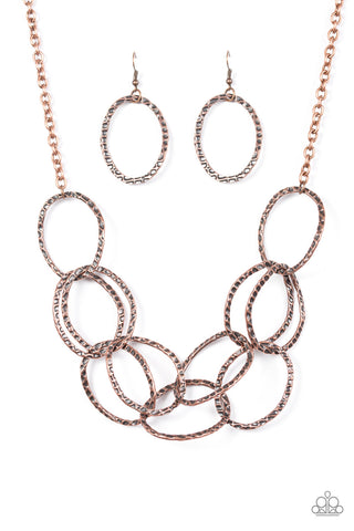 PAPARAZZI NECKLACE-CIRCUS ROYALE- COPPER