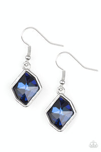 PAPARAZZI EARRINGS-Glow It Up - Blue
