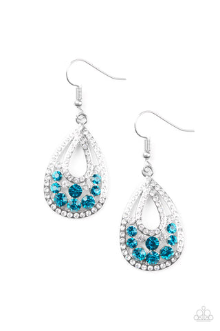 PAPARAZZI EARRINGS- SPARKLING STARDOM- BLUE
