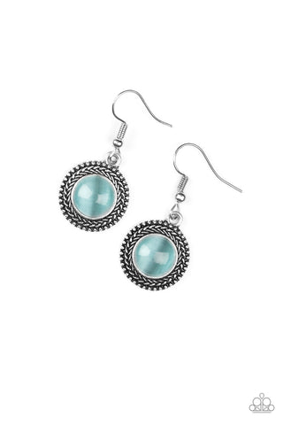 PAPARAZZI EARRINGS- Time To GLOW Up- BLUE