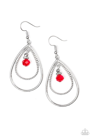 PAPARAZZI EARRINGS-REIGN On My Parade - Red