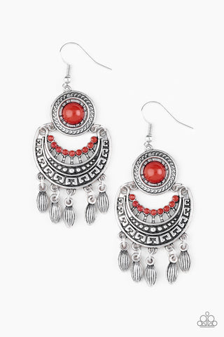 PAPARAZZI EARRINGS-Mantra to Mantra - Red
