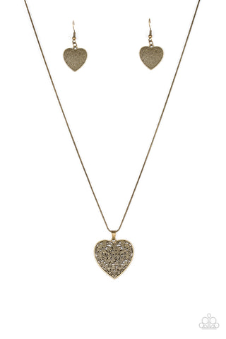 PAPARAZZI NECKLACE-Look Into Your Heart - Brass